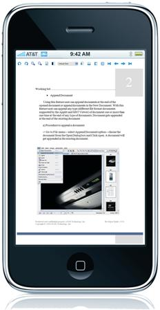 Word Doc on Apple iPhone